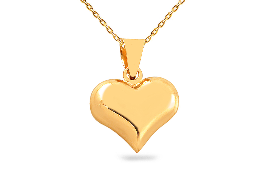 Gold Heart Pendant - IZ9393
