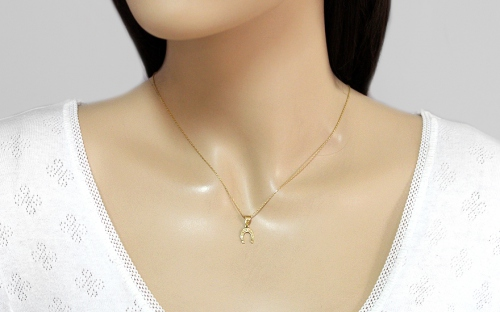 Gold Lucky Horseshoe Pendant - IZ4638M