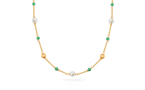 Gold Necklaces - Emerald
