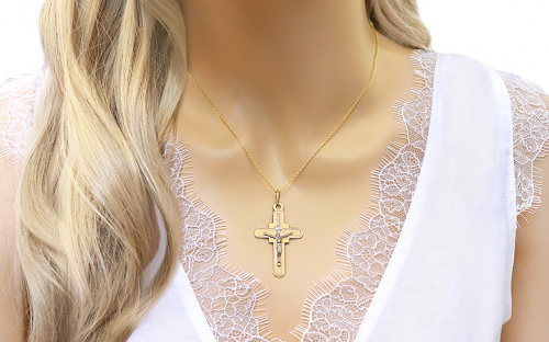 Gold Passion Cross Pendant - IZ7608