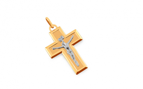 Gold Cross Crucifix Pendant - IZ7607