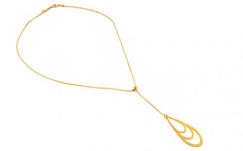 Gold plated Sterling Silver Necklace for Ladies - IS1137Y