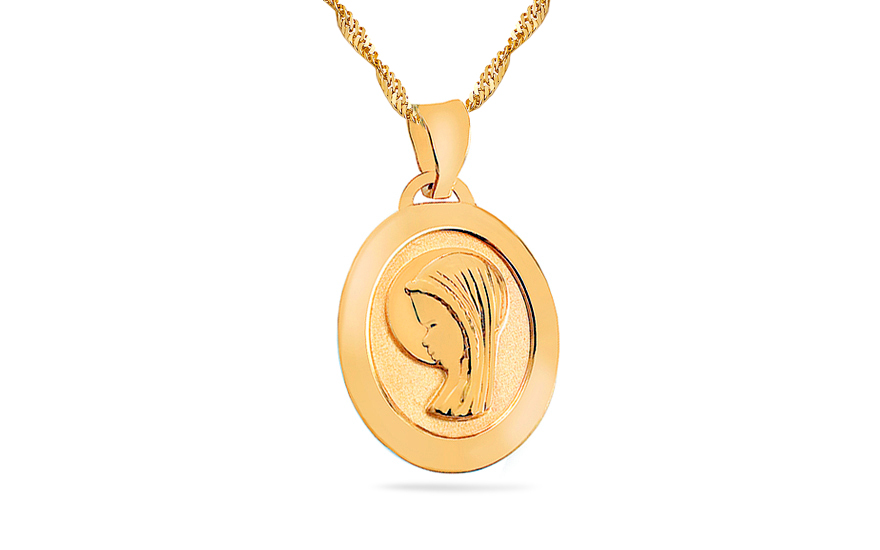 Gold Virgin Mary Locket - IZ7628