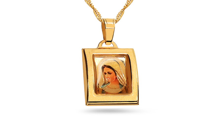 Gold Virgin Mary's Pendant - IZ7633