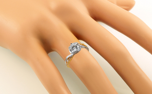 Gold Engagement Ring Isarel 6 - CSRI931