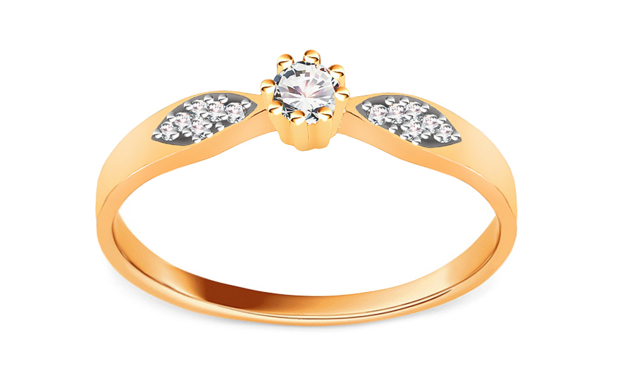 Gold Engagement Ring Princess 11 - CSRI2061