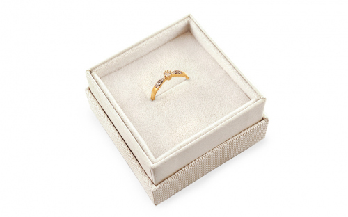 Gold Engagement Ring Princess 11 - CSRI2061 - in a box