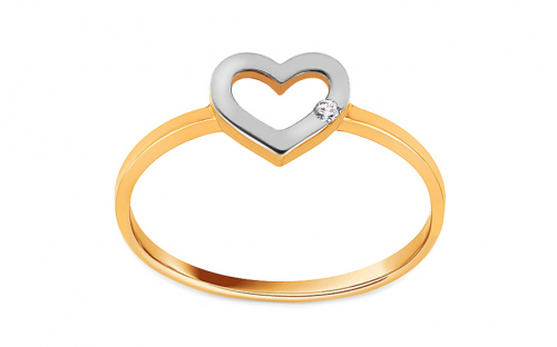 Gold heart ring - IZ11374