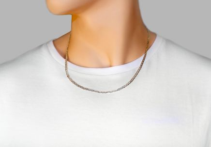 Rhodium plated Silver Gucci Marina Chain - IS174