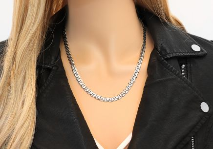 Rhodium plated Silver Gucci Marina Chain