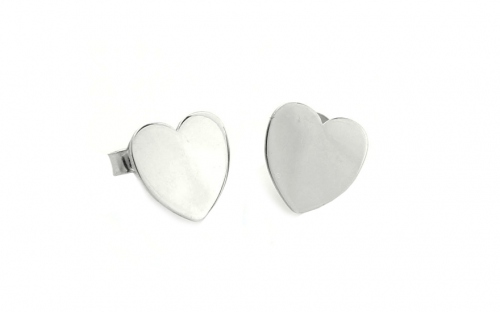 Hearts Sterling Silver Earrings - IS369