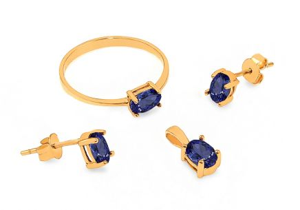 Gold Zircon Set