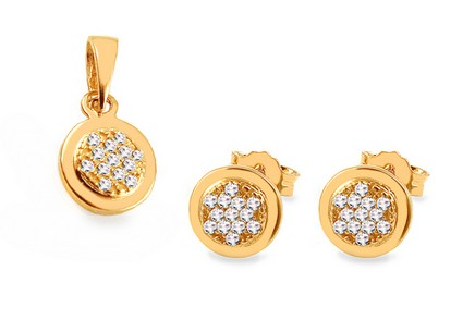 Gold Cubic Zirconia Set