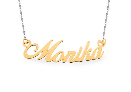 Combined gold plated Monika necklace