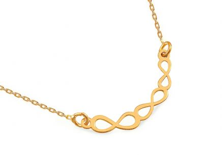 Gold plated 925 sterling silver necklace Infinity