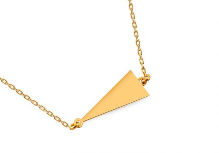 Gold plated silver necklace with triangle