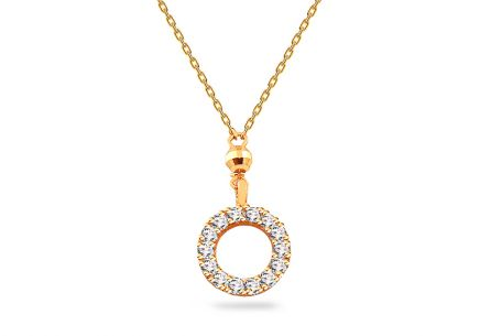 Gold plated Sterling Silver Necklace with cubic zirconia