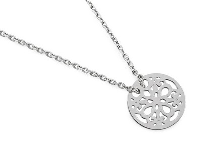 Silver necklace Flower of Life
