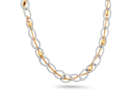Silver gold plated necklace