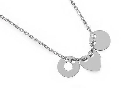 Sterling Silver Necklace Ellipse