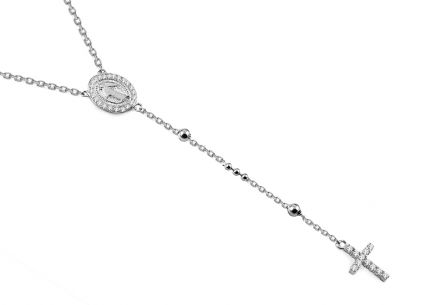 Sterling Silver rosary necklace