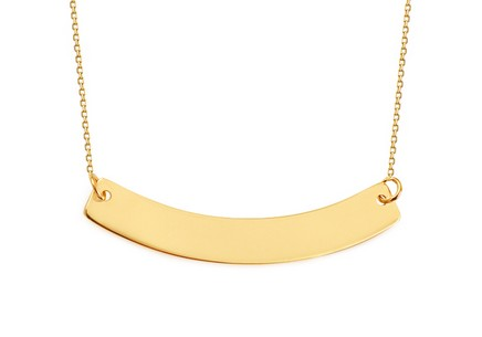 Gold Chain with Engraving Plate