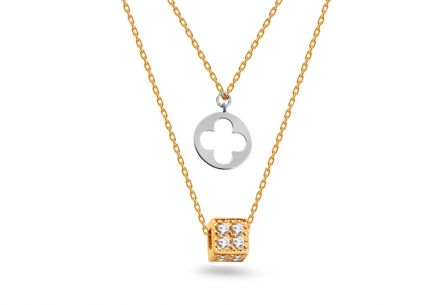 Gold Multiple Pendant Necklace