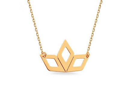 Gold Necklace with Pendant V.I.P.