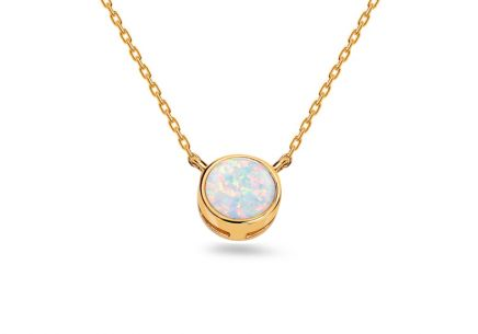 Gold Opal Necklace