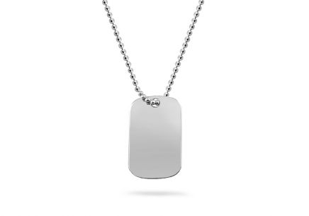 Silver chain with pendant Military stamp