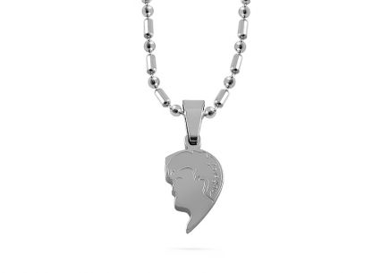 Ladies necklace made of stainless steel