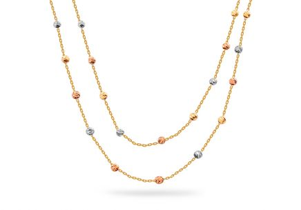 Gold combined beads necklace