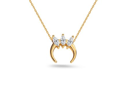 Gold Cubic Zirconia Necklace