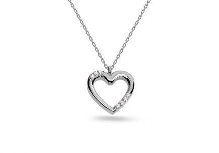 White gold necklace with iZlato heart