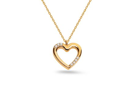 Necklace with heart iGold