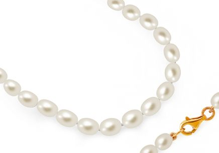 white pearls Necklace on 925sterling Silver