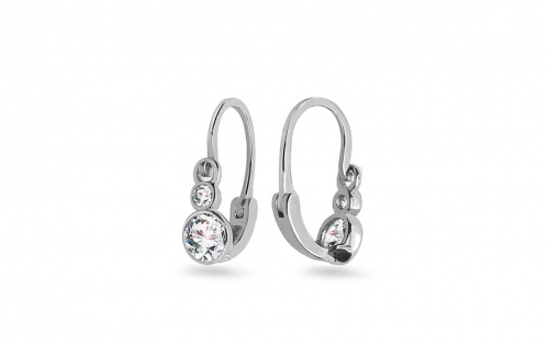 Newborn Earrings with Zircon - 1-339-0105Z
