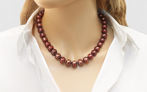 Pearl Necklace Red - IS70N