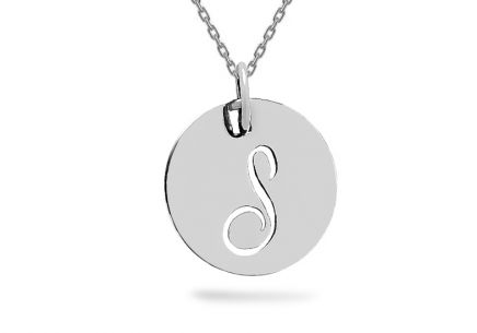 White gold pendant with letter S