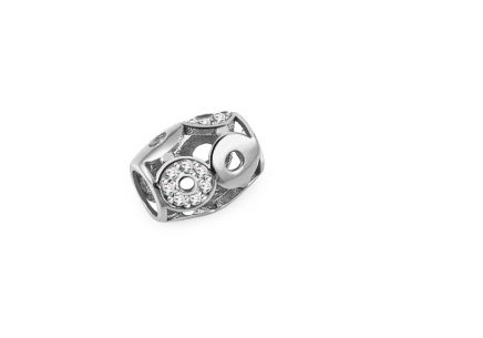 Palmyra white gold zirconia charm ball
