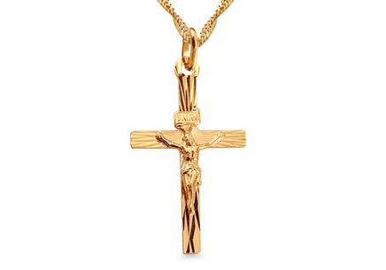 Gold Passion Cross Pendant