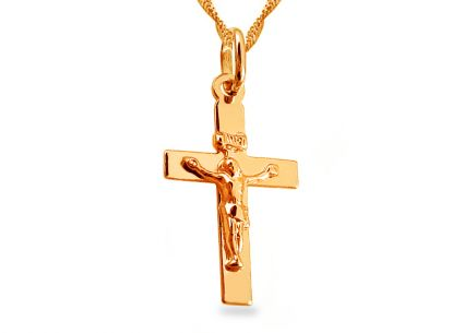 Gold Pendant Christ Crucifixation
