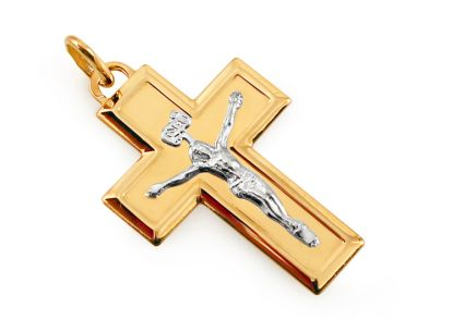Gold Cross Crucifix Pendant