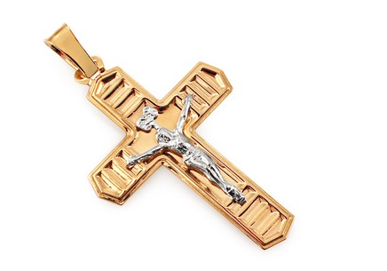 Gold two tone cross