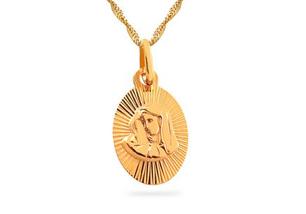 Gold Mary and Jesus Locket