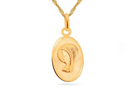 Gold Virgin Mary Locket