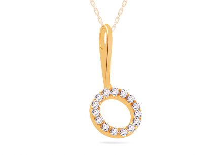 Gold-plated silver pendant
