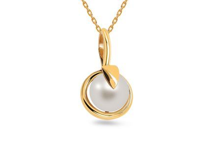 Natural Pearl Gold Pendant