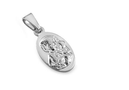 Silver pendant Madonna with baby