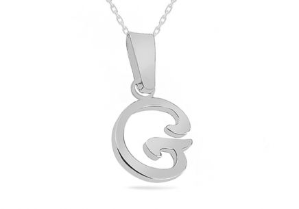 Rhodium plated 925Silver Pendant  G